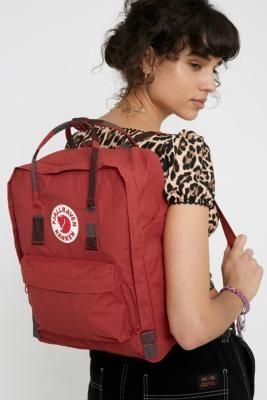 Fjallraven Kanken Random Stripe Handle Backpack - red at Urban Outfitters