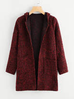 tweed hooded coat - ShopStyle