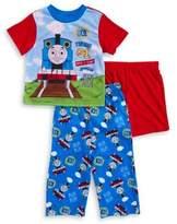 AME Sleepwear Baby Boys' Three-Piece Train Pajama Set