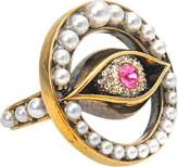 Alexander McQueen Jewelled Eye Ring