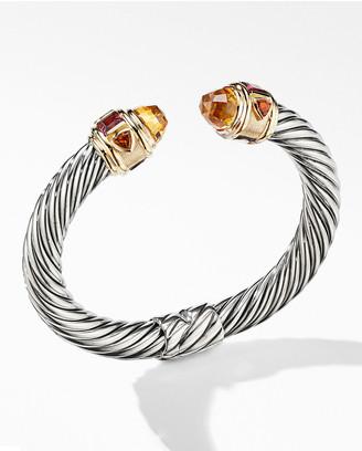 David Yurman 9mm Renaissance Bracelet w/ 14k Gold & Stones