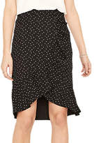Oasis Polka Frill Wrap Skirt, Multi