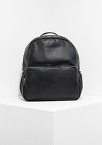 Missy Empire Skye Black Faux Leather Backpack
