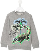 Stella McCartney croco beach print Billy sweatshirt - kids - Cotton - 4 yrs