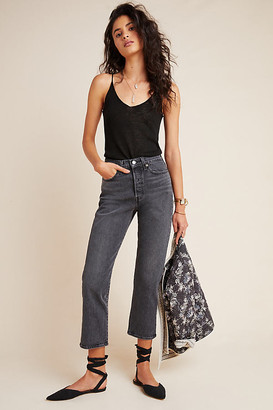 Levi's Wedgie Ultra High-Rise Straight Jeans By in Grey Size 26