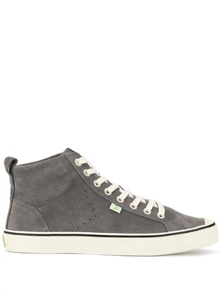 Cariuma OCA High Stripe Charcoal Grey Suede Sneaker