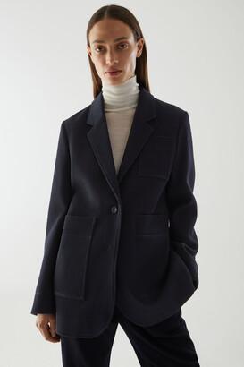 Cos Organic Cotton-Wool Mix Workwear-Style Blazer
