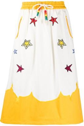 Mira Mikati Embroidered Patch Midi Skirt