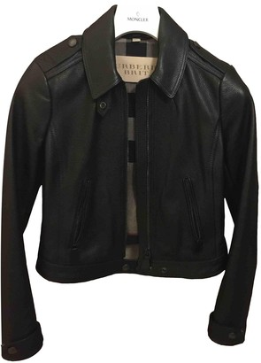 Burberry Black Leather Jackets