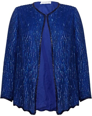 Hasanova Mare Royal Blue Sequin Jacket