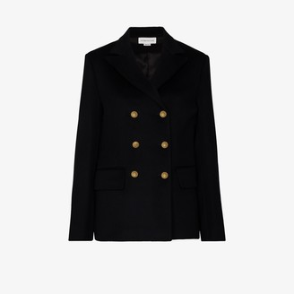 Victoria Beckham Double-Breasted Wool Peacoat