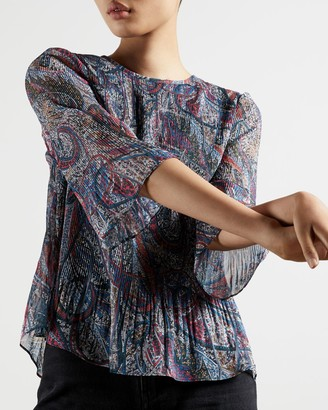 Ted Baker Lantern Pleated Top