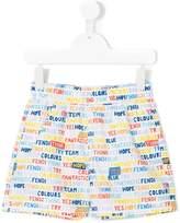 Fendi lettering print swim shorts