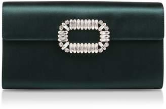 Roger Vivier Satin Envelope Clutch Bag