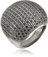 Ileana Creations Azhar Large Cubic Zirconia Sterling Silver Cocktail Ring