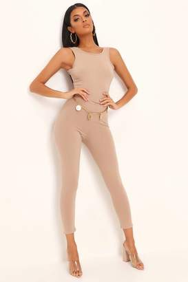 I SAW IT FIRST Stone Bodycon Jersey Jumpsuit