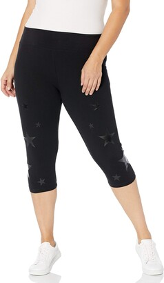 Andrew Marc Women's Plus Size Crop Legging with Star Print
