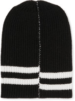 Raf Simons - Striped Ribbed Wool Beanie
