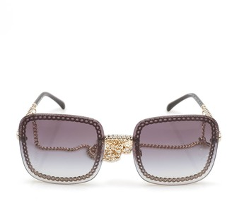 Chanel Square Frame Chain Sunglasses