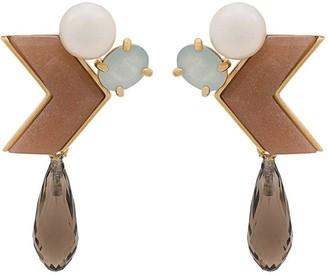 Wouters & Hendrix Sunstone Arrow earrings