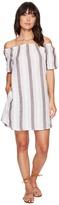 Allen Allen Two-Pocket Off the Shoulder Stripe Dress Women's Dress