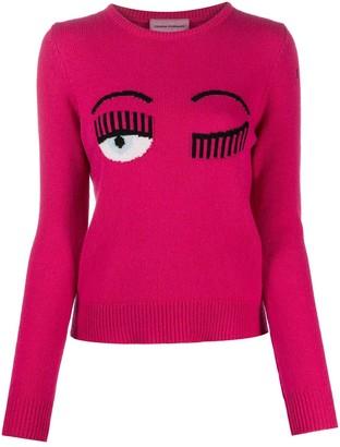 Chiara Ferragni Logo-Jacquard Sweater