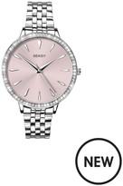 Seksy By Sekonda Crystal Set Bezel Pink Dial Stainless Steel Bracelet Ladies Watch