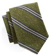 Todd Snyder Striped Silk Wool Tie in Green