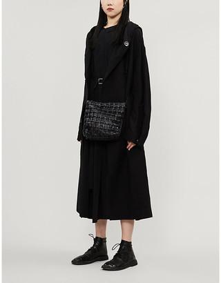 Yohji Yamamoto Hooded linen-blend coat