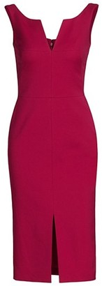 Alexander McQueen Sleeveless Scoopneck Wool-Blend Pencil Dress