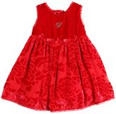 Miss Blumarine Velvet Devoré Party Dress