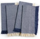 Homewear Durham Blue 4-Pc. Cotton Napkin Set