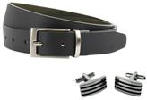 Peter Werth Giles Reversible Belt and Cufflink Set