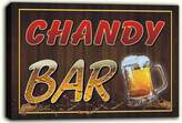 AdvPro Canvas scw3-052949 CHANDY Name Home Bar Pub Beer Mugs Stretched Canvas Print Sign