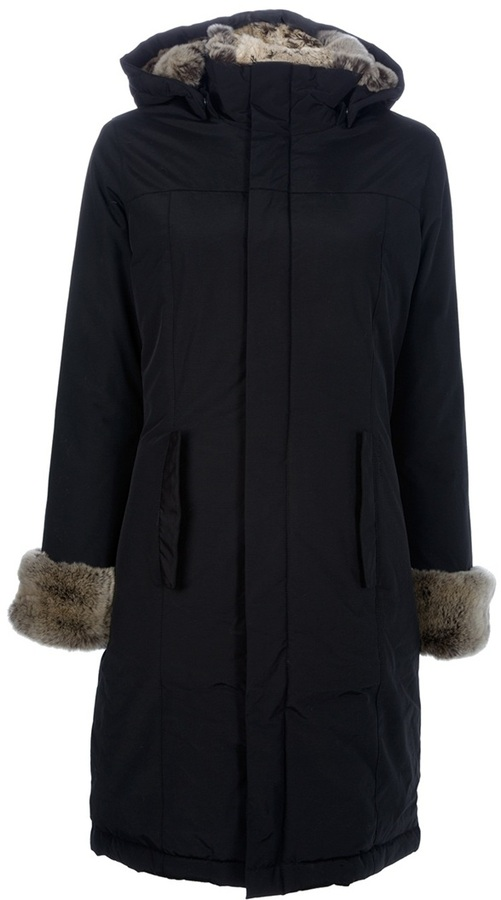 Woolrich faux fur trimmed coat