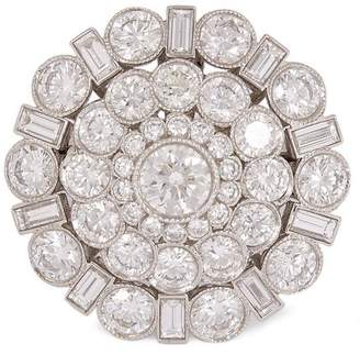 Tiffany & Co. Kojis Platinum Diamond Cluster Ring