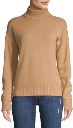 Theory Ribbed Turtleneck Cashmere Sweater