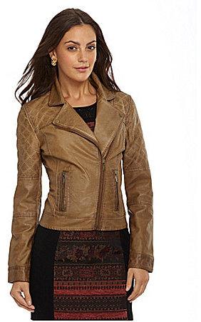 BB Dakota Johs Faux-Leather Moto Jacket