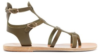 Ancient Greek Sandals Stephanie Leather Gladiator Sandals - Womens - Dark Green