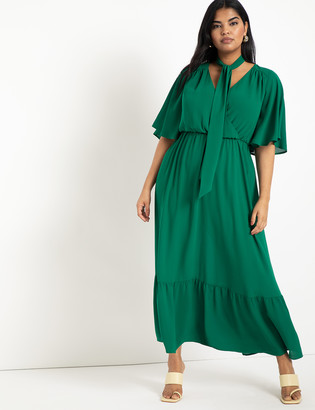 ELOQUII Soft Gown with Flare Sleeves