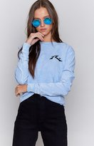 Rusty Mono Screen 2 Long Sleeve Tee Light Blue