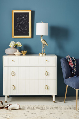 Anthropologie Marcelle Three-Drawer Dresser By in White