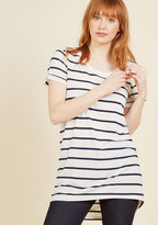 Simplicity on a Saturday Tunic in Navy Stripes in XS