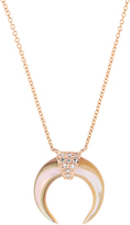 Jacquie Aiche Diamond, abalone & rose-gold necklace