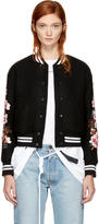 Off-White Black Diagonal Cherry Varsity Jacket