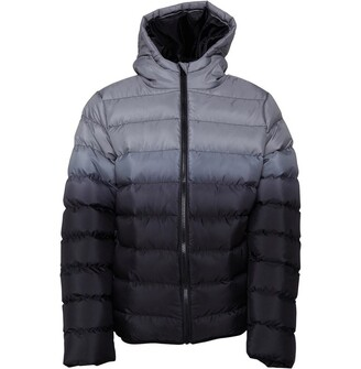 Fluid Boys Hooded Ombre Padded Jacket Grey/Black