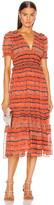 Ulla Johnson Elodie Dress in Chili Tie Dye | FWRD