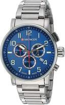 Wenger Men's 'Attitude Chrono' Swiss Quartz Stainless Steel Casual Watch, Color:Silver-Toned