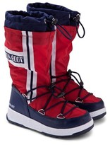 Moon Boot Red Waterfall Boots