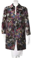 Valentino Silk Camubutterfly Coat